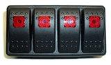 4 Gang Marine Jeep Boat Automotive Rocker Switch Panel