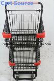 Carretilla doble americana de las compras del carro de compras de la carretilla del supermercado