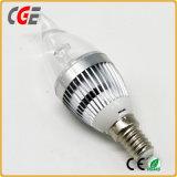 6W E14 6500k LEDの蝋燭の電球
