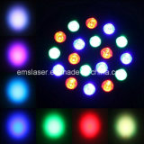 RGB LED PAR Light 18 *0.5W LED Stage Projector met Huisvesting DMX512 Plastic