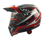 굵은 활자 방패 두 배 챙, Casco Moto를 가진 Motocross Fox 헬멧