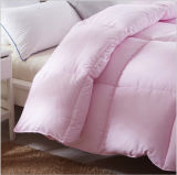 Bed Hotel Comforter White 90% Duck Down Pink Quilt