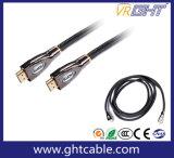 24kナイロン組みひもが付いている金によってめっきされる高品質HDMIケーブル