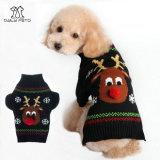 Maglione nero di natale del maglione dell'animale domestico