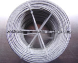 7*19 5.0mm galvanisierte Stahldraht Rope