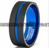Ring van het Wolfram van de Mens van de Juwelen van Shineme de Blauwe Geplateerde (TST2867)