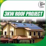 fora do sistema solar da grade 3kw com o jogo da energia solar de eficiência elevada
