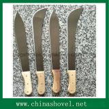 Machete de la caña de azúcar del acero de carbón de la herramienta de la granja del machete