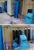 Planta de producción de oxígeno con el sistema de llenado del cilindro