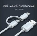 Weiß 100cm 2 der schnellen Geschwindigkeits-2.1A in 1 USB-Daten-Kabel