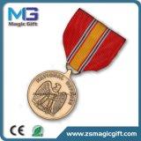 Médaille de cuivre d'aigle en métal de ventes chaudes avec la bande