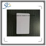 Cartão de plástico com cartão de tamanho padrão com etiqueta em branco