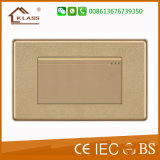 Commutateur léger de mur avec l'impression d'or, 10A/250V