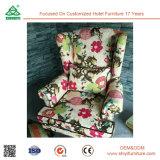 余暇ファブリック現代装飾された椅子、純木フレームのホテルの余暇の椅子