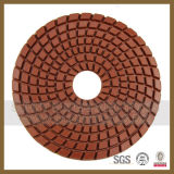 7 Passos Dry / Wet Spiral Polishing Pads on Angle Grinder