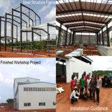 Structure métallique préfabriquée pour la construction d'entrepôt