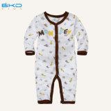 Vêtement Playsuits de bébé d'impression de véhicule d'habillement de bébé de V-Collet