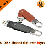 Movimentação chave do flash do USB do couro do fechamento para os presentes livres (YT-5120)