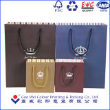 Personalizado de papel de lujo bolsas de regalo al por mayor, impresión de bolsas de papel con mango de algodón