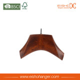 Percha de ropa de madera de la manera del color de Brown (2QEF0064)