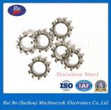 Rondelle à ressort de DIN6797A de dents de blocage externe en acier en métal