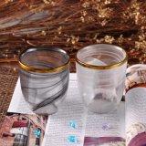 Knall-Haupthochzeits-Dekoration-Glaskerze-Halter mit Goldfelge