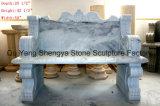 白い大理石のベンチの庭のベンチの石のベンチMB-021