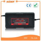 Lader van de Batterij van het Elektrische voertuig van Suoer de Draagbare 60V 7.3A (zoon-6080D)