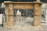 Marble Fireplace Stone Mantel Marble Mantel Mfp-025