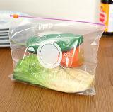 Sacos selados tecla da preservação de alimento da tração do PVC da forma