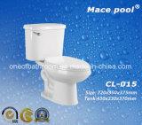 Toilette en deux pièces en céramique compétitive pour la salle de bains (CL-015)