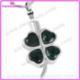La collana Pendant di cremazione dell'acciaio inossidabile del fiore del cuore Ijd8223 incenerisce il Locket di memoria del supporto del Keepsake