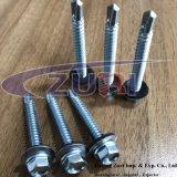 Parafuso de revestimentos betumados auto Drillng 14X2 Zincado com arruela de EPDM