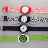 Orologio dei bambini di plastica poco costosi con la vigilanza promozionale dei capretti di marchio del cliente