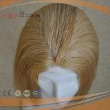 Parrucca medica della parte anteriore bionda del merletto (PPG-l-01830)