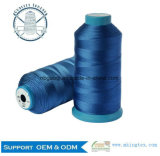 Geklebter China Großverkauf 100% des Polyester-industrieller Nähgarn-100d/3
