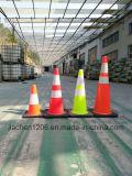 Jiachen fábrica Cono de tráfico verde al por mayor con base negro más pesado