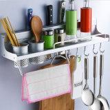 Utensílio de suspensão Rack de rack Suporte de armazenamento Utensílios de cozinha Ganchos arrumados na parede