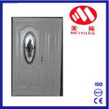 Diseño principal de acero caliente de la puerta de entrada de Jordania con el vidrio