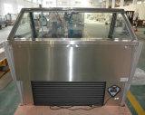 Étalage de Gelato de porte coulissante/réfrigérateur en verre incurvé de crême glacée de porte (QP-BB-14)