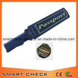 Metal detector tenuto in mano di obbligazione del metal detector del passaporto dei prodotti di obbligazione