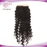 """Закрытие шнурка """" X4 """" волос 4 Remy волны плотности 130% перуанское глубокое"""