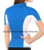 Chemises impétueuses mâles de Spandex court de chemise