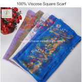 100% вискоза полиэстера с цветочным рисунком печать шаль Salable квадратных Шарфа