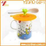 Coperchio resistente caldo personalizzato della tazza del silicone per i regali