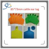 Tag de orelha animal plástico da vaca do gado de 85X73mm