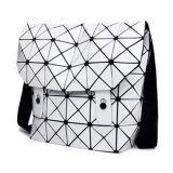 백색 PU 마름모꼴 기하학적인 남녀 공통 어깨에 매는 가방 (M005-1)