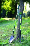 Gli strumenti di giardino hanno forgiato la pala rotonda del punto della forcella tagliente d'acciaio con la maniglia della vetroresina