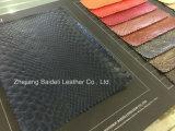 Krokodil Printting Belüftung-synthetisches Leder für Beutel/Sofa-/Möbel-Polsterung