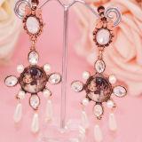 Роскошный жемчужный кристалл сплава свадьбы Prom Tiaras плюс бесплатный Earbobs Короны